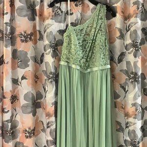 Meadow green bridesmaid/prom dress
